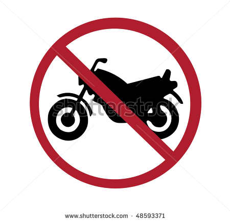 No motorcycles logo