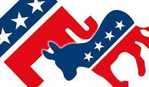 Democratic donkey n rep elephant